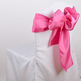 Satin Chair Sashes Coral Pink (Pack of 10)