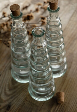 Spiral Bottle with Cork