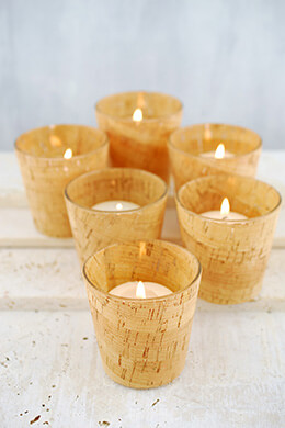 6 Cork Votive Holders
