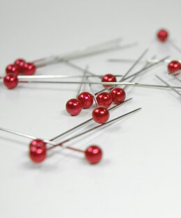 "Corsage & Bouquet Pins Red Pearlescent 2"" (144 pins )"