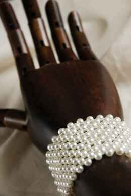 Corsage Bracelet Cream White Pearls