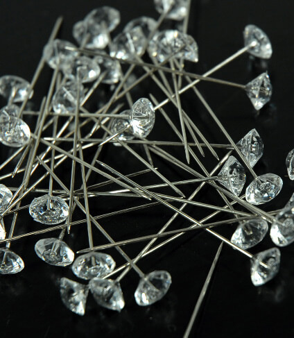 Corsage Pins Crystal 2in | Pack of 100