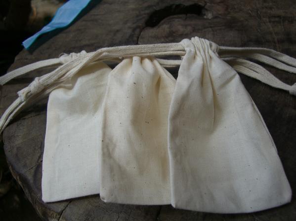 12 Cotton Drawstring Bag 3x5