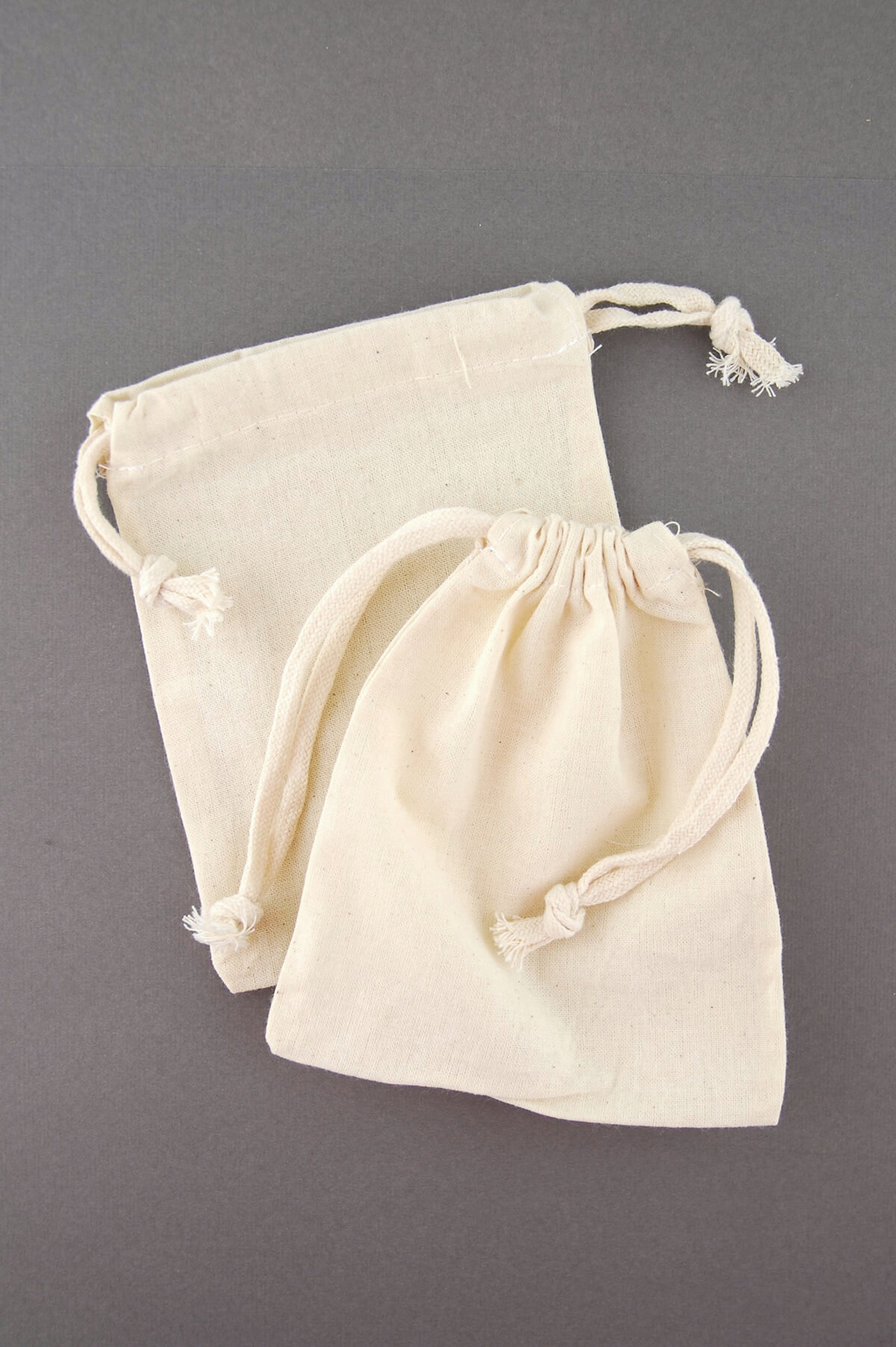 Cotton Drawstring 5x6 Favor Bags