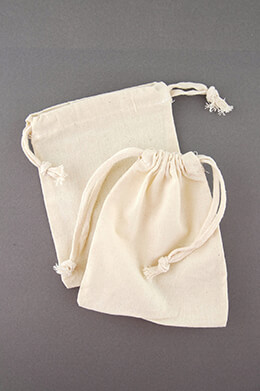 12 Cotton Drawstring 5x6 Favor Bags
