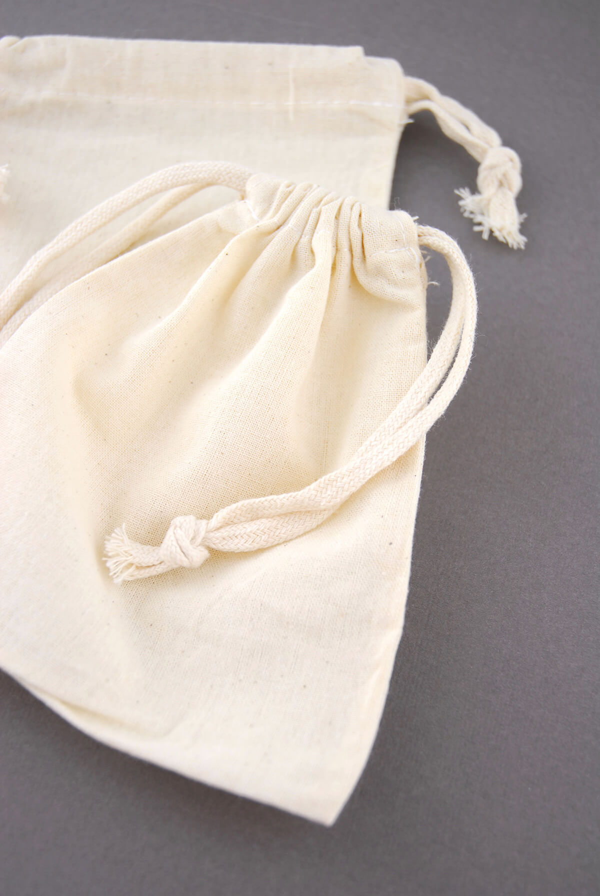 Cotton Favor Bags With Drawstring 5in x 6in (Pack of 12)