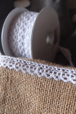 Cotton White Lace Bobbinet Crochet Ribbon