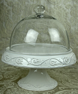 Covered Ceramic Cake Stand 12.5in