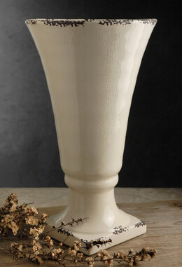 Legacy Ceramic Crackle Glaze Vase Urn 12.5""