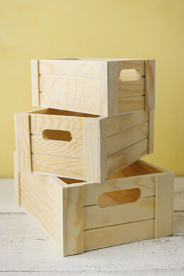 Small Wood Pallet Crates Set of 3