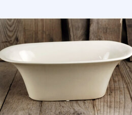 Cream White Porcelain Tub Planter