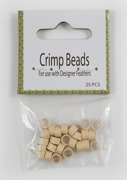 Crimp Beads Ivory White - Use to make feather hair extensions (25 pieces)