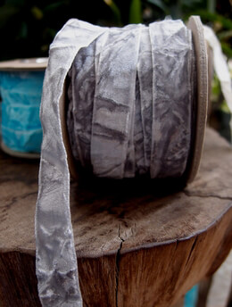 Velvet Ribbon Grey 11yd