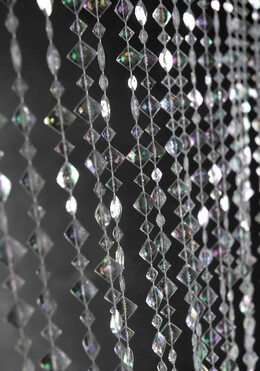 Iridescent Crystal Beaded Curtains 6ft