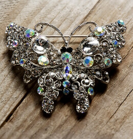 Crystal Butterfly Rhinestone Brooch