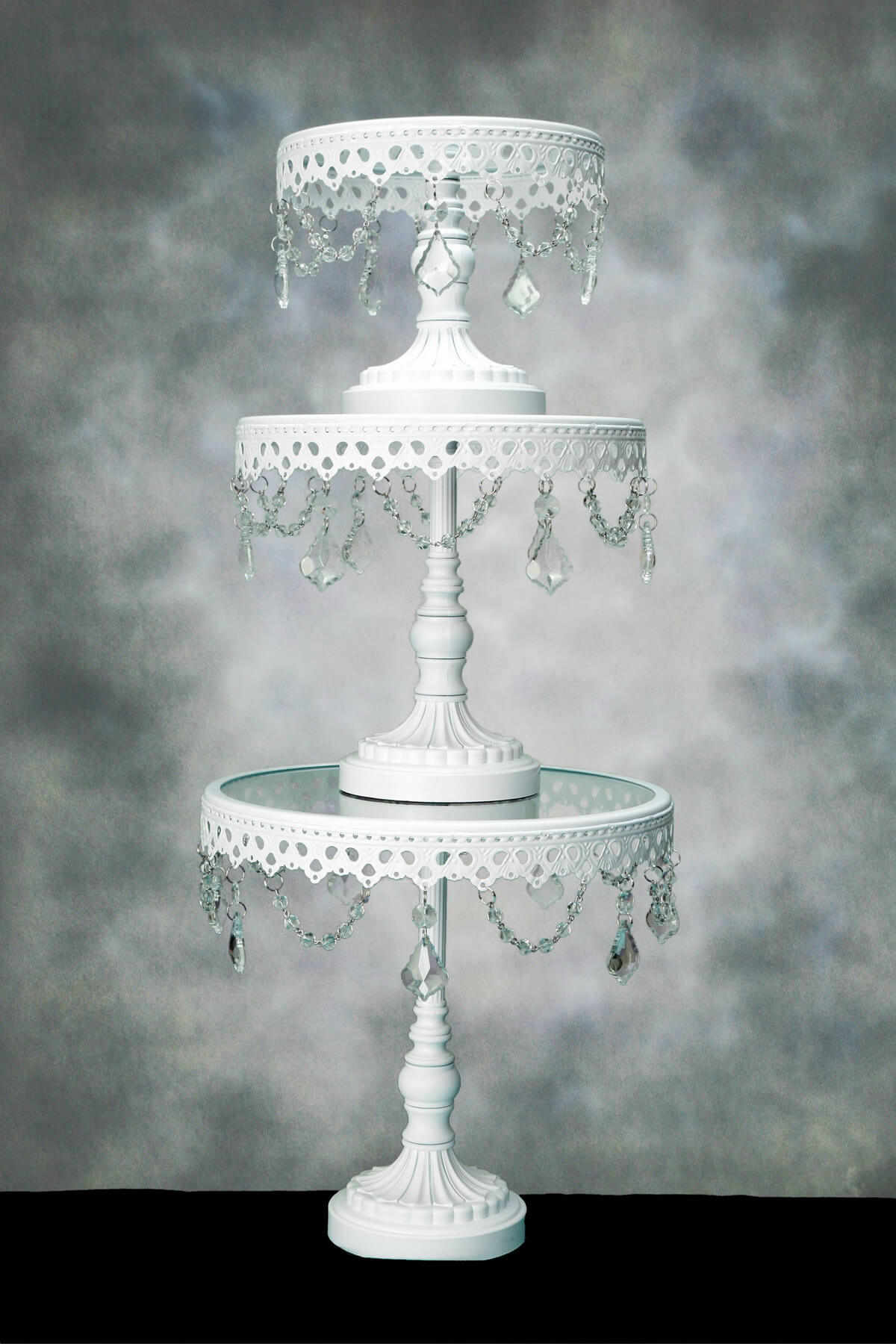 Crystal Cake Stands Pedestal Set of 3