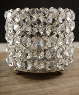 Crystal Candle Holder 4in