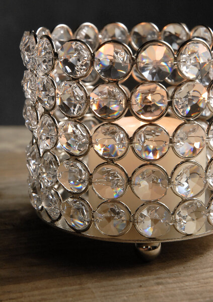 Diamond Bottle Holder / Candle Holder
