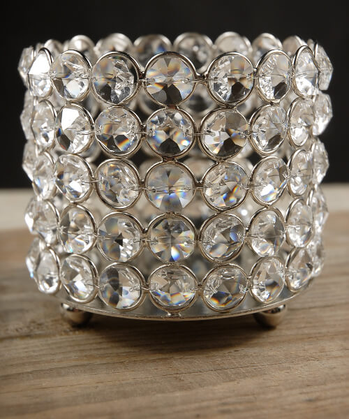 Diamond Bottle Holder Candle Holder
