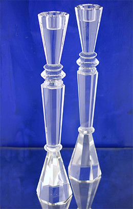 Crystal Tower Candlesticks 15in (Set of 2)