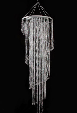 Crystal Chandelier with Lights Extra Long 72""