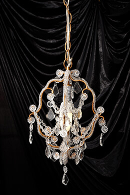 "Gold & Crystal 11.5"" Chandelier"