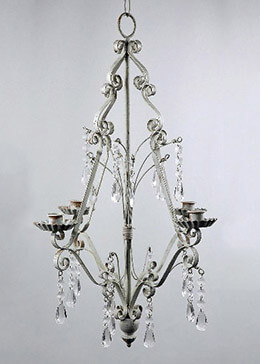 "Paris Flea Market Crystal Chandelier 23"" As seen in Martha Stewarts Weddings"