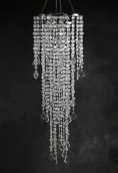 Crystal Chandelier 3 Tier Led Battery Operated 42in