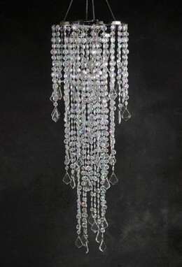Crystal Chandelier 3-Tier LED Battery Operated 42in