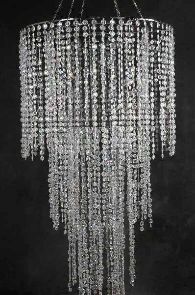 Four Tier Crystal Chandelier Plug In 77in