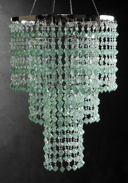 Crystal Chandelier Mint 3 Tier
