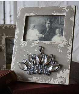 Crystal Crown Wood Frame