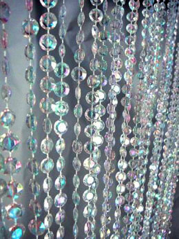 8 Foot Crystal Beaded Curtain Iridescent 2ft Wide