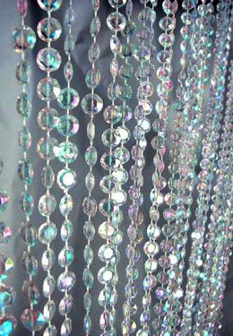 Iridescent Crystal Curtain 2 Ft x 8 Ft