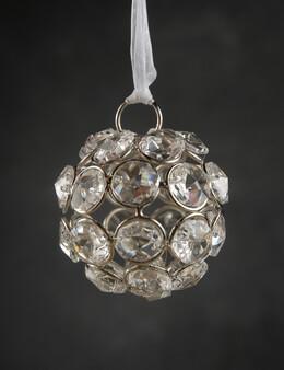 Crystal Diamond Hanging 2 in. Glass Balls