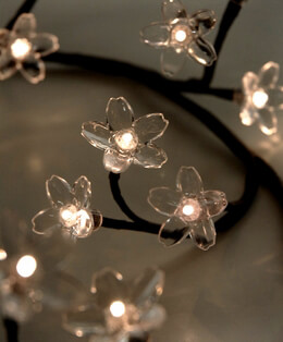 Flower Garland LED Crystal 39in