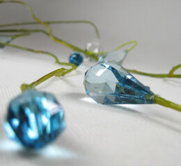 Crystal Hanging Branches 5' Aqua Blue Crystals