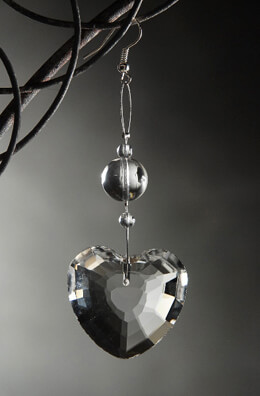 Hanging Crystal Heart 1.25""