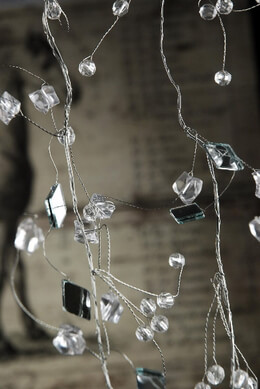 Crystal Mirror Garland 8 Feet