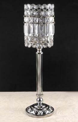 Crystal Pedestal Candle Holders