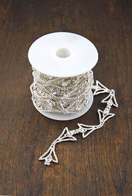 Crystal Trim Art Deco 5yd
