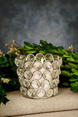 Crystal Votive Holder 2.75in