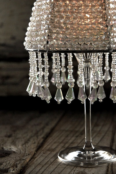 Crystal Deville Wine Glass Lampshades