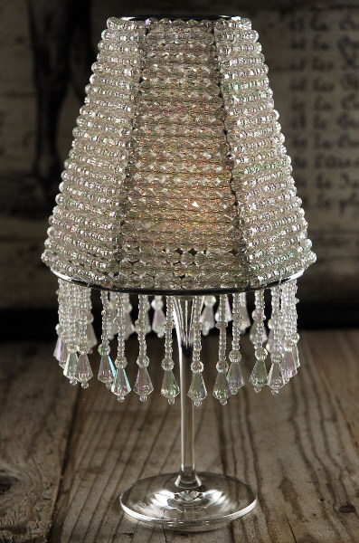 """""""The Majestic"""" Crystal Wine Glass Lampshade - Candle Shade"""