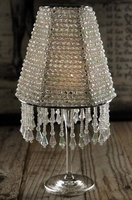 """The Majestic"" Crystal Wine Glass Lampshade - Candle Shade"