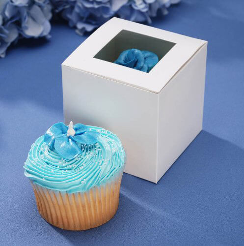 Darice Cupcake Box with Window,12-Pieces 3-1/2-Inch