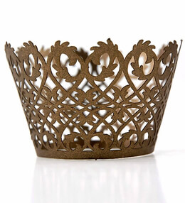 Filigree Cupcake Wrappers Brown | Pack of 50