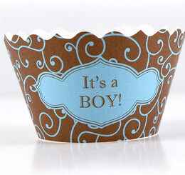 Cupcake Wrappers - It's a Boy 12 pack