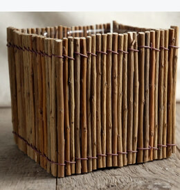 Willow Twig Pot with Liner 5in