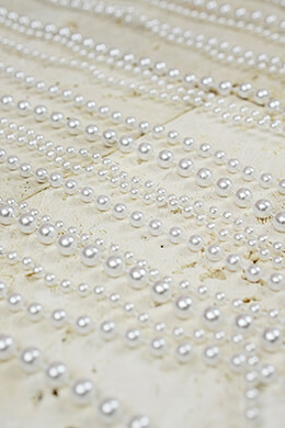 White Pearl Curtains Garlands 35in x 6 FT